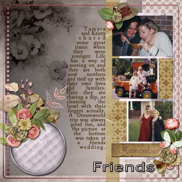 https://flic.kr/p/rCtyTn   Tamara and Kristy   Melancolie - Share the fun and Pliscrap - One Day in a life. Template from AMarie