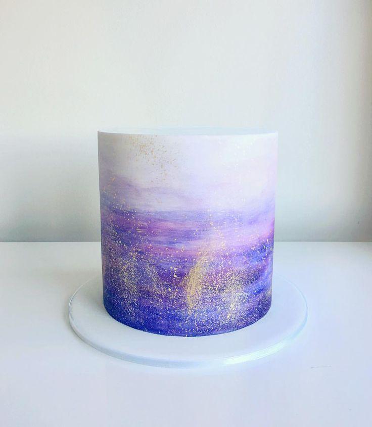 Galaxy watercolour   ivyandstonecake…