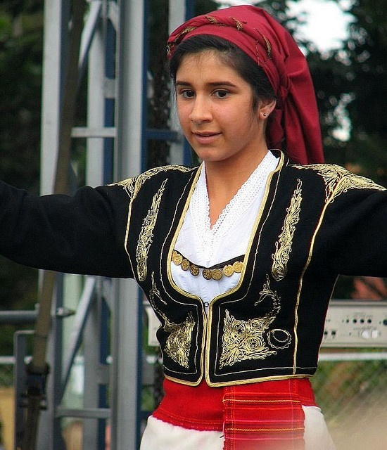 Greek Dancing Girl by mardiR, via Flickr (Cretan traditional dress)
