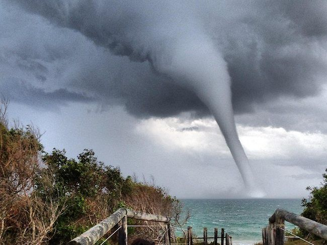 Australia:  Incredible picture of the waterspout at Batemans Bay NSW. WOW!!  #weather  Photo by Syne Michael.