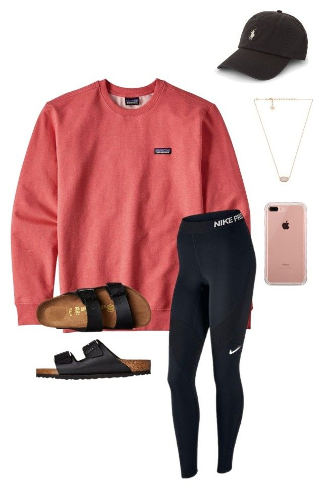 """""""Driving there"""" by kolbee24 ❤ liked on Polyvore featuring Patagonia, NIKE, Polo Ralph Lauren, Birkenstock, Kendra Scott, Belkin and mmadsssummervacay2017"""