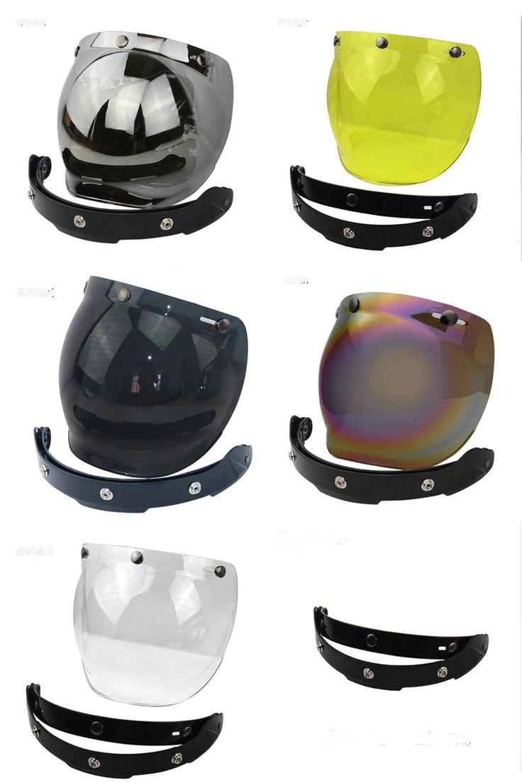 [Visit to Buy] 2017 new motorcycle windshield for vintage helmet for harley retro style helmet jet style helmet bubble visor UV 400 Protection #Advertisement