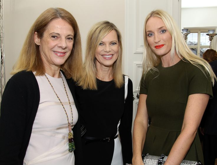 Dr. Isabelle Liegl, Nina Ruge und Petra Winter (Editor in Chief, Madame) in Nymphenburg.