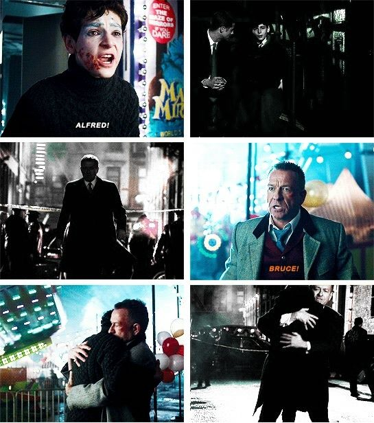 #Bruce and #Alfred reunions <3 Gotham season 1 and season 3