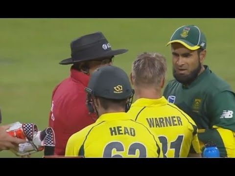 Latest Cricket Fight Between Imran Tahir And David Warner  SA Vs AUS 5th...