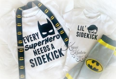 Batman Brother Shirts - Matching Brother Shirts - Super Hero Sibling Shirts - Batman & Robin - Batman Inspired - Boys Batman Shirt - Newbaby