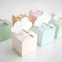 6 Boîtes dragées Pastel, tendres et sucrées + Etiquettes