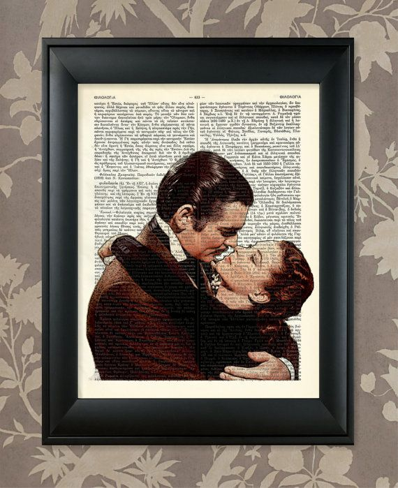 Gone With The Wind Famous Kiss / Upcycled Antique by AnaGenessis