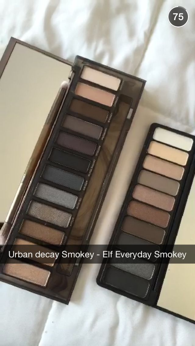 Dupe for Urban Decay Smokey palette - Elf smokey