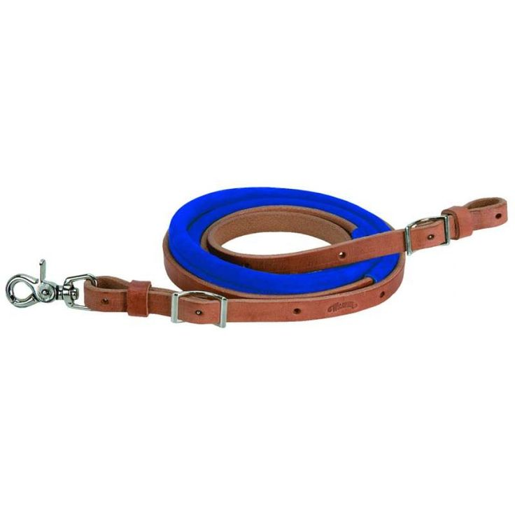 WEAVER BARREL RACE REINS BLUE Complete that rodeo look with these eye catching high quality Weaver reins. $69.95