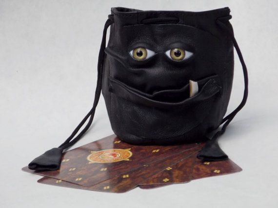 Leather Dragon Dice Marble Card Bag Drawstring by pippenwycks, $25.00