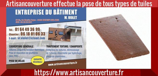 artisan couverture91 #artisan #couvreur en rénovation de la #toiture #couverture effectue la pose de tous modèles de tuiles ( béton - mécanique ) #devistravaux #devisgratuit  https://www.artisancouverture.fr