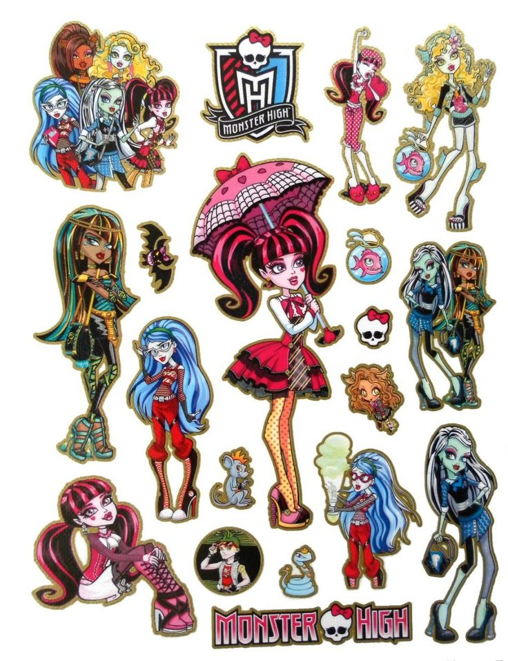 17 best images about stickity doo da on pinterest little for Stickers monster high pour chambre