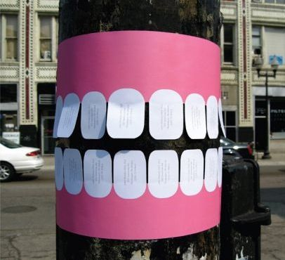 歯医者の街頭広告