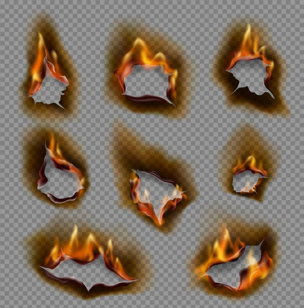 Burning Paper Holes Realistic Fire Flames Burnt Paper Paper Fire Paint Splash Background