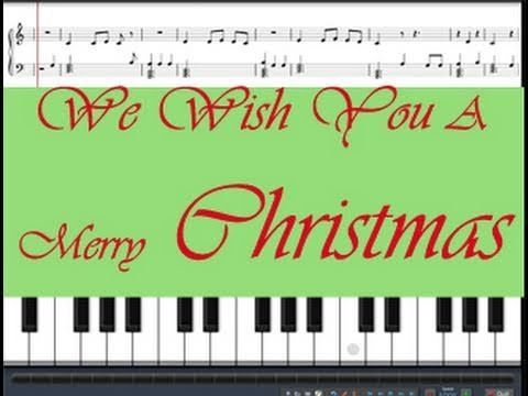 "Learn how to play ""We Wish You A Merry Christmas"" on piano.  This Free tutorial comes with free sheet music and virtual piano for practicing song at http://www.zebrakeys.com/blog/2009/10/free-christmas-sheet-music/#wewishyouamerrychristmas"