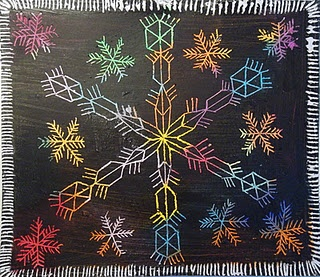 sneeuwvlokken; mandala; symmetrie