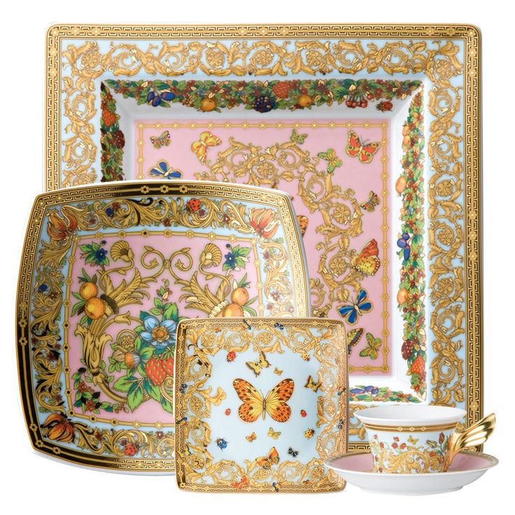The dishes I am going to get for my new house! Versace Butterfly Garden Dinnerware Collection