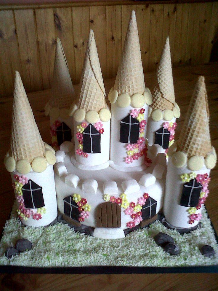 Princess fairy castle cake
