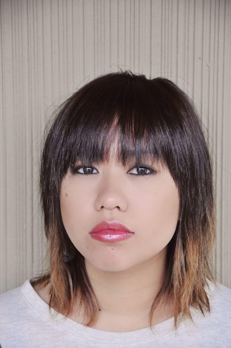 Ombre hair, short ombre hair, asian ombre hair