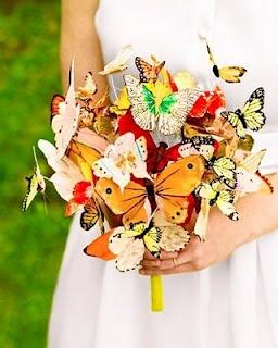 butterfly bridal bouquet * Brautstrauß mit Schmetterlingen