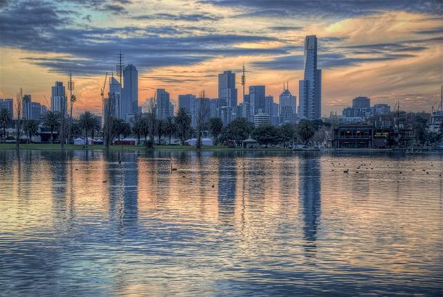 Albert Park lake by J-C-M on Flickr.