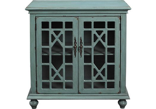 Shop for a Swansboro Blue Accent Cabinet at Rooms To Go. Find Accent Cabinets that will look great in your home and complement the rest of your furniture. #iSofa #roomstogo