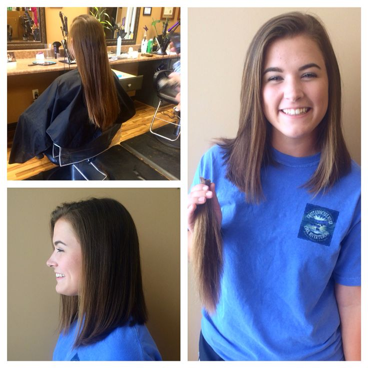 Lob haircut Before and after donate hair new haircut