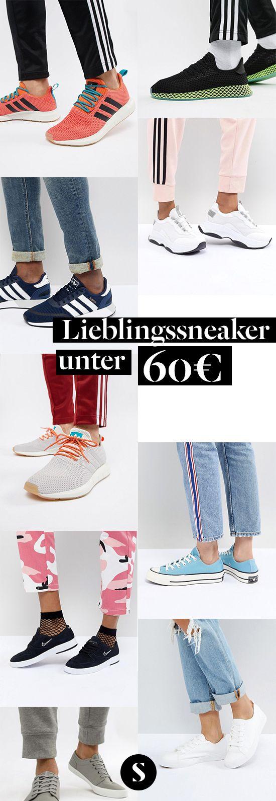 Kein Outfit ist komplett ohne passende Sneakers: Schlicht, bequem und vielseitig ist diese Art Schuh das perfekte Accessoire, das in keinem Zuhause fehlen darf. Und der perfekte Style muss nicht teuer sein: Ob ganz einfach und einfarbig oder eher moderner mit Verzierungen: Hier finden sich Sneaker für jeden Anlass – und das alles unter 60 Euro!