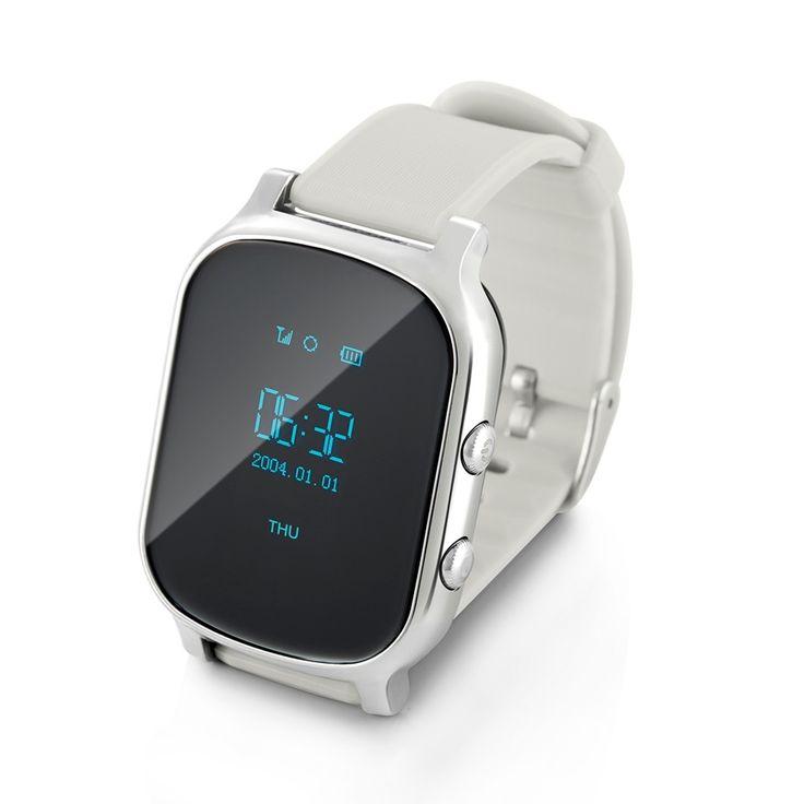 37.31$  Watch now - http://alin1o.shopchina.info/1/go.php?t=32810728617 - GPS Tracker Smart Watch T58 for Kids Children GPS Bracelet Google Map Sos Button Tracker Gsm GPS Locator Clock Smartwatch Silver  #bestbuy