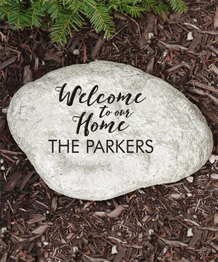 Take a look at this 'Welcome to Our Home' Personalized Garden Stone today!