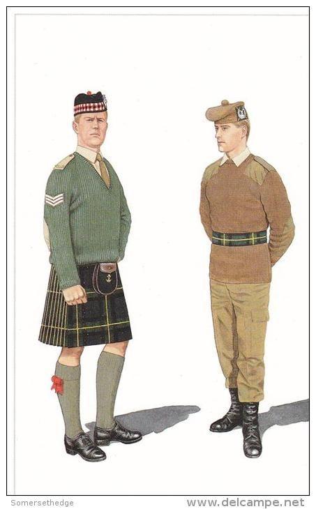 British; Gordon Highlanders, Sergeant & Private