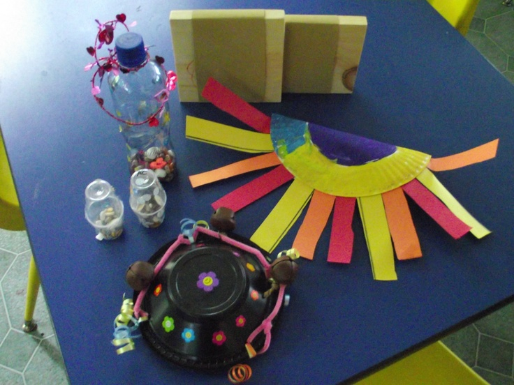 Home made musical instruments