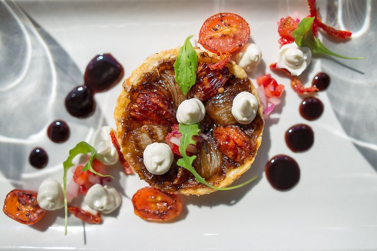 Baked Onion and Tomato Tart tatin off new #ShimmywinterMenu. a la carte  Book now at Shimmy Beach Club, Cape Town info@shimmybeachclub.co.za or 021 200 7778