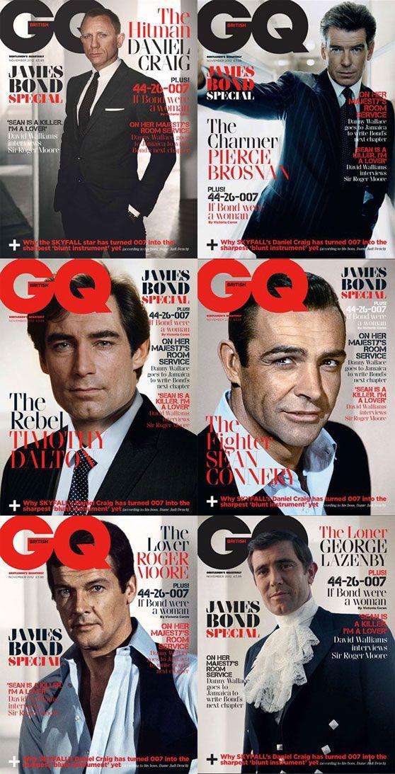Bond, James Bond.★GQの表紙のジェームスボンド達
