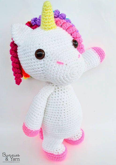 Patrón de Crochet Mimi El Unicornio Amigable 40 cm./16 in.