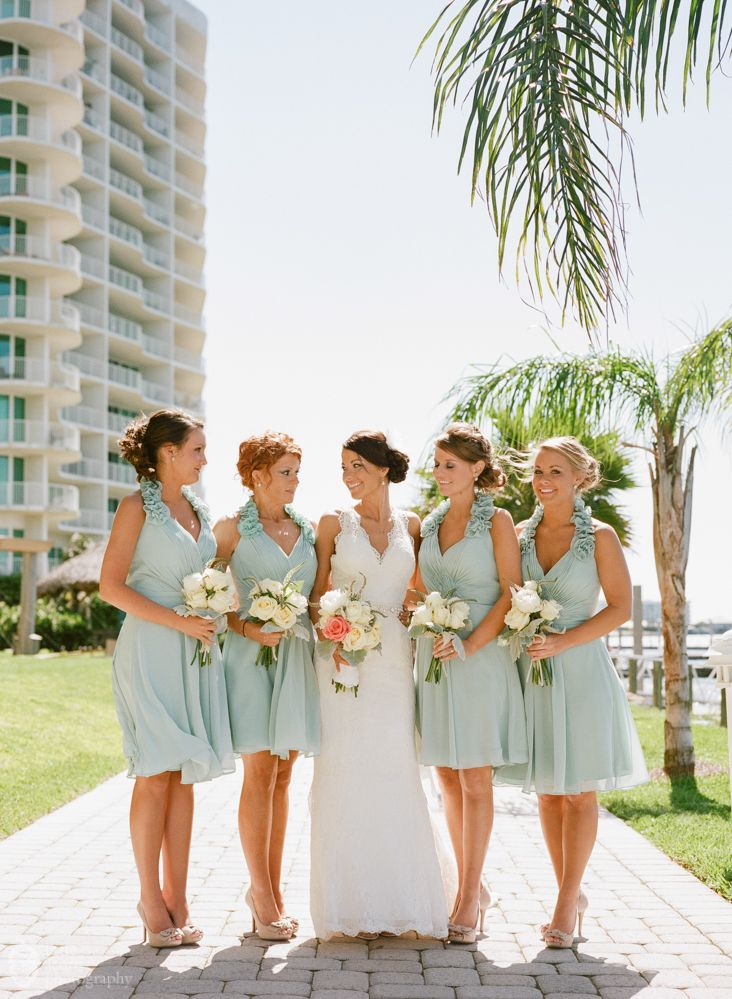 19 best images about wedding attire the girls on for Green beach wedding dresses