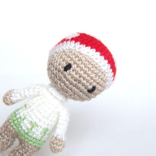 Toadstole dwarf crocheted figure