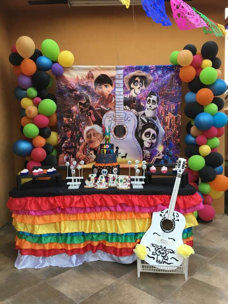 Pixar COCO Birthday Party Ideas | Birthday party ideas ...