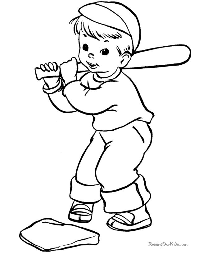 boy summer coloring pages - photo#17