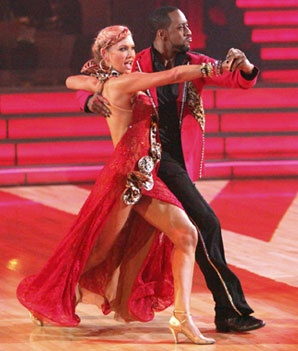 Kym Johnson and Jaleel White dance ballroom tango on week 4, season 14 of Dancing with the Stars.