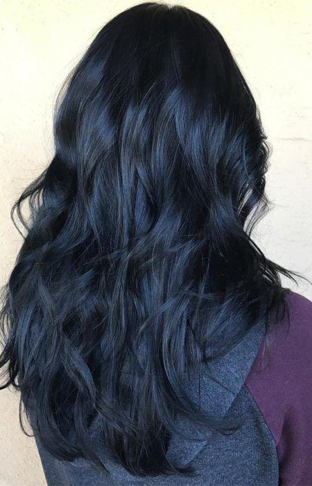 Mitternachtsblaues Schwarzes Haar Frisur Pinterest Schwarzes