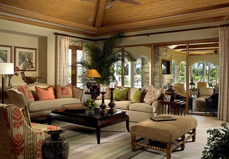 Sala de estar con una decoracion clasica sala de estar for Decoracion de living room
