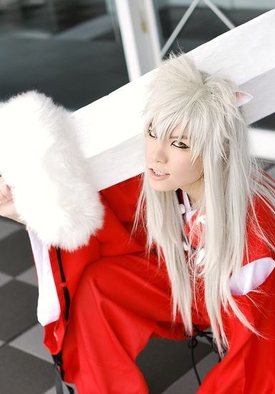 Inuyasha (from Inuyasha).  I love his eye's! (Also, of you're into K-Pop, he looks like Zelo from BAP!!! :D)