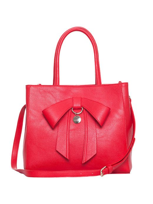 Millicent Bow Bag in Red | Accessories | Review Australia