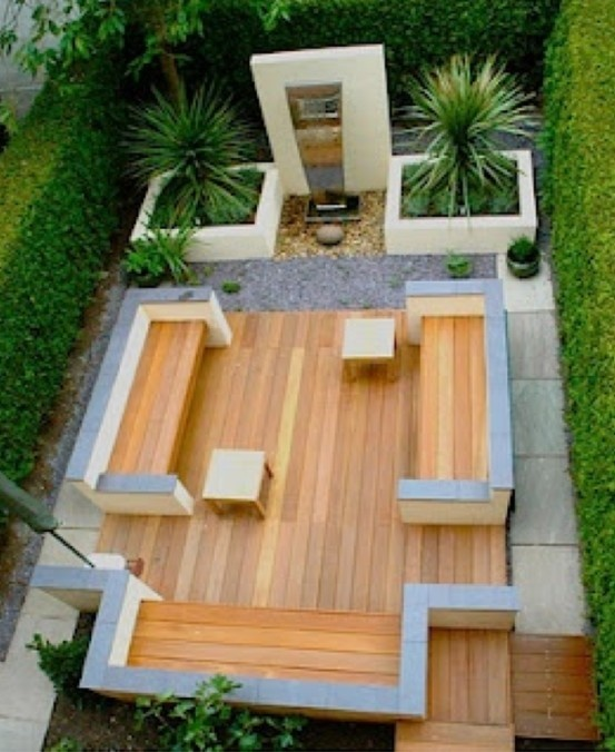 What a fantastic grown-up contemporary garden design this is. Minimal maintenance for maximum effect. Great entertaining space.