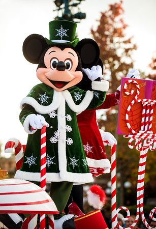 "November 9, 2014 through January 7, 2015, Disneyland Paris celebrates ""Disney's Enchanted Christmas,"" during which the park is decked out for the holidays."
