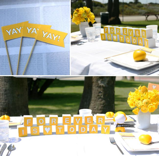 45 best wedding decoration ideas images on pinterest silver wedding inspirations from wedding invitations green wedding wedding decoration ideas yellow and gray 650x637 junglespirit Images