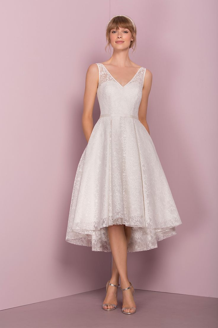 The Lace Tea Dress by Kelsey Rose | Tea Length Wedding Dress #bridal #wedding