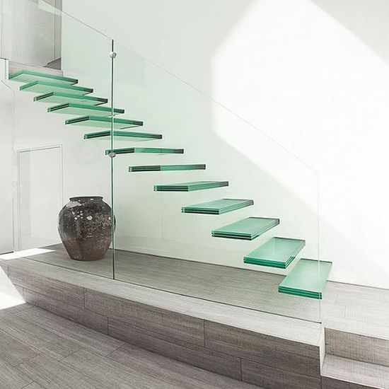 Best Modern Float Straight Glass Staircase Pr L06 With 400 x 300